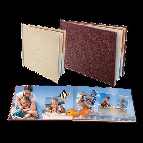 Livres sur Papier Photo Couverture en Cuir