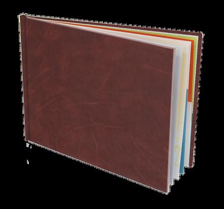 Couverture cuir Landscape A4 29,7x21