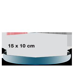 Carte pliée 15x10 sur papier satiné