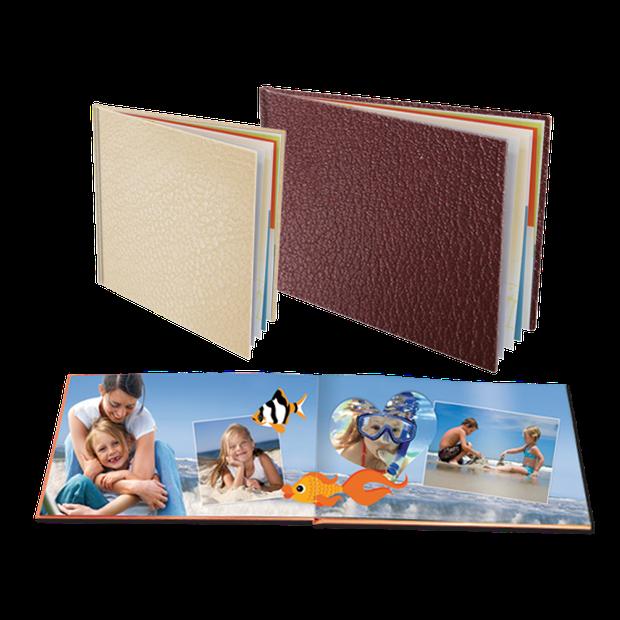 Boeken met Lederen kaft op Fotopapier
