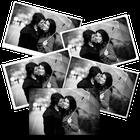 Poster Noir/Blanc 20x30 cm Brillant