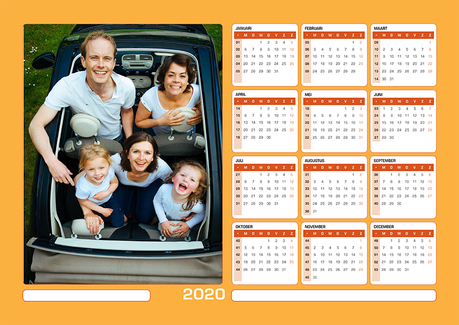 Magnetische Kalender A4 Horizontaal