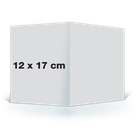 Carte pliée 12x17 sur papier satiné