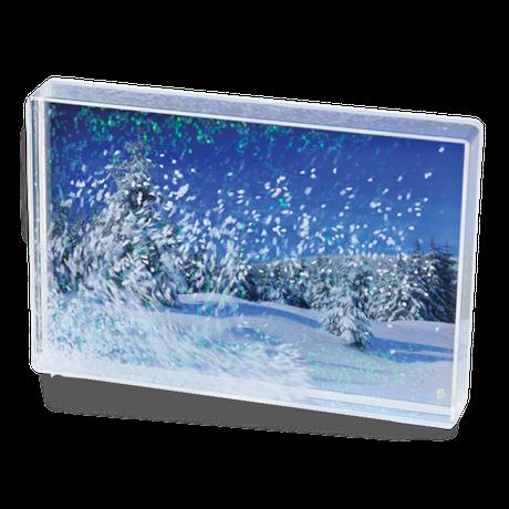 Bloc photo magique - neige