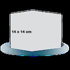 Carte pliée 14x14 sur papier satiné
