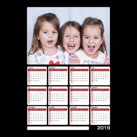 Magnetische Kalender A4 Verticaal