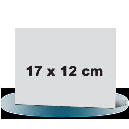 Fotowenskaart enkel 17x12