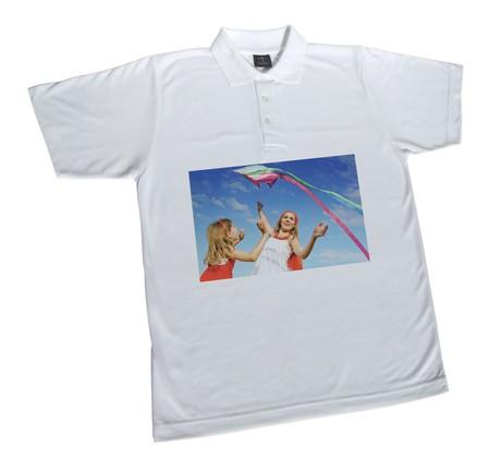Polo T-shirt wit unisex