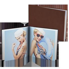 Livre photo couverture en cuir
