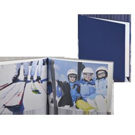 Livre photo couverture en tissu