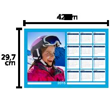 Calendrier magnétique A3 horizontal