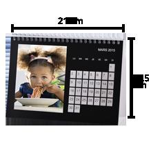 Calendrier de bureau A5 horizontal