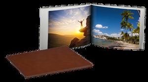 Livre photo cuir 20,5x15cm Paysage