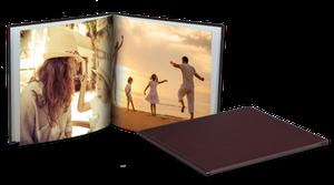 Livre photo cuir 20,5x20,5cm Carré